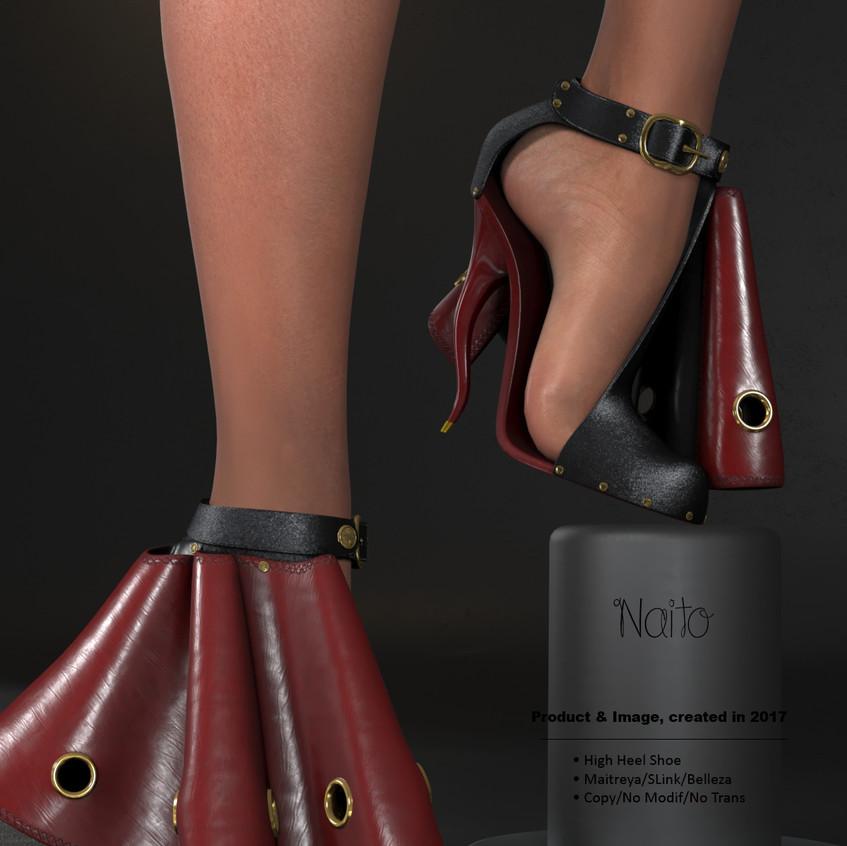 AZOURY - Naito High Heel Shoe [Red]