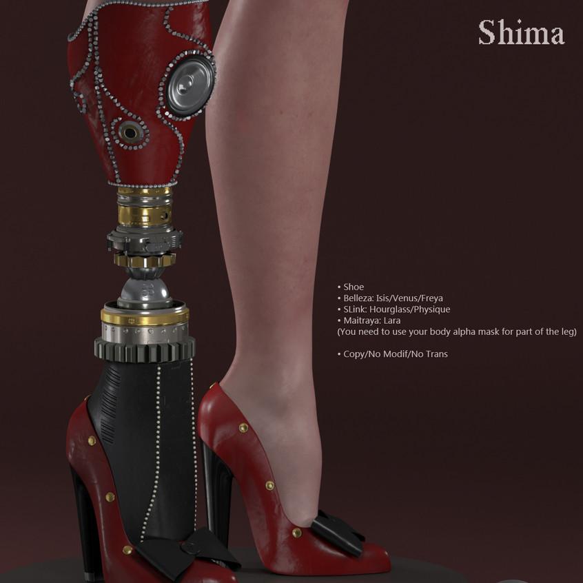 AZOURY - Shima Shoe [Red]