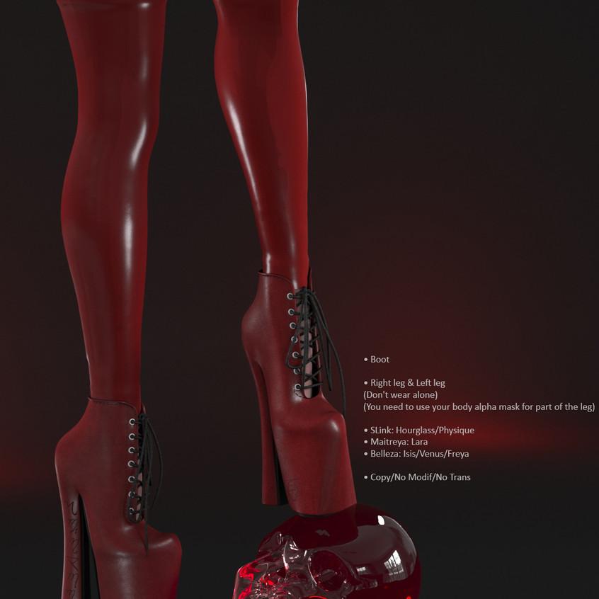 AZOURY - Salem Boot [Red]