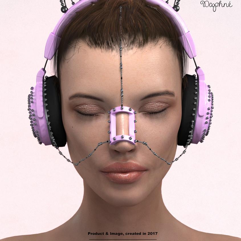 AZOURY - Daphne Headphone [Pink]