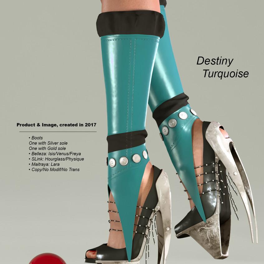 AZOURY - Destiny Boots [Turquoise]