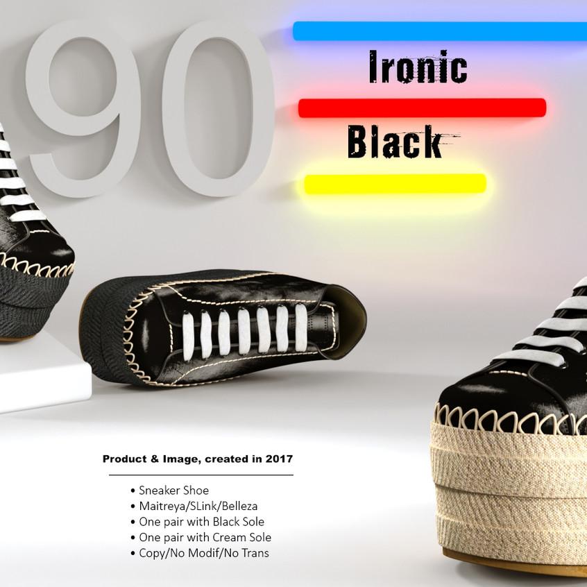 AZOURY - Ironic Sneaker Shoe [Black]