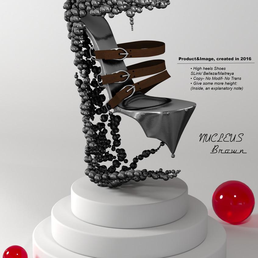 AZOURY - Nucleus High Heel Shoes [Brown]