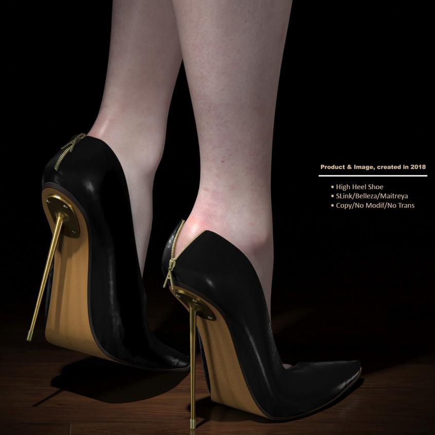 AZOURY - Kardia High Heel Shoe [Black]