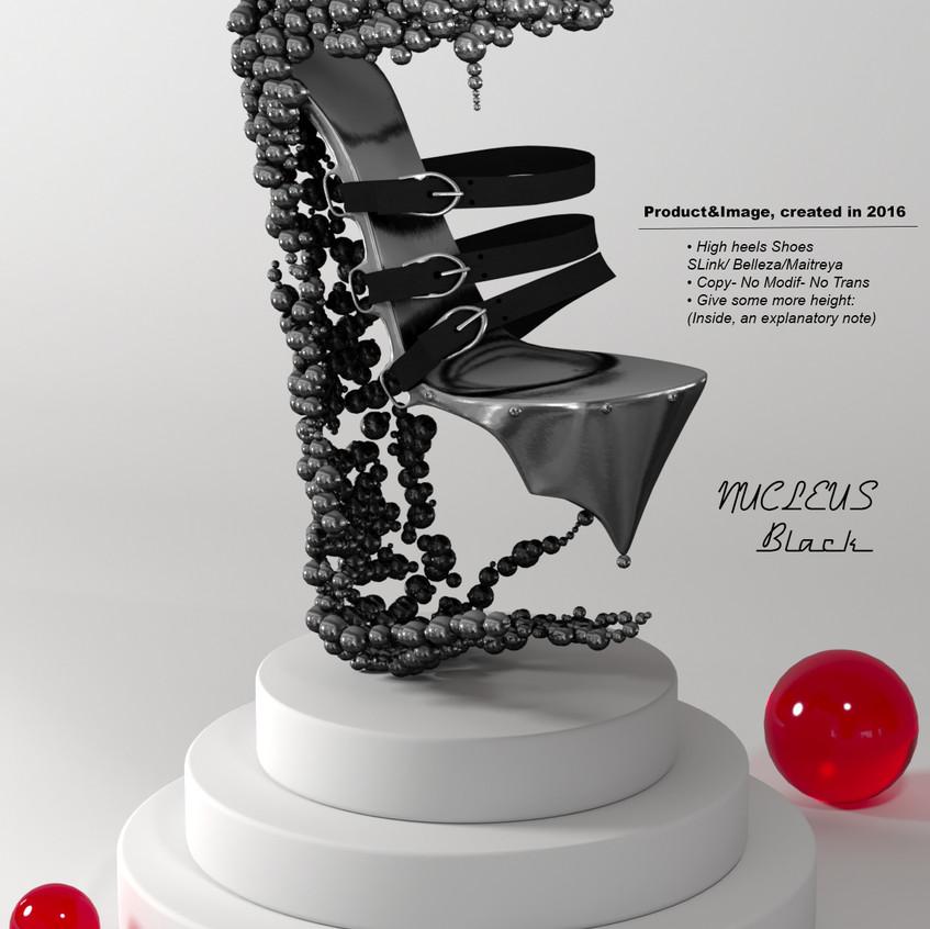 AZOURY - Nucleus High Heel Shoes [Black]