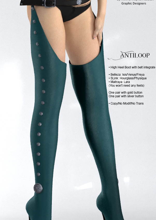 AZOURY - Antiloop leather [Turquoise]