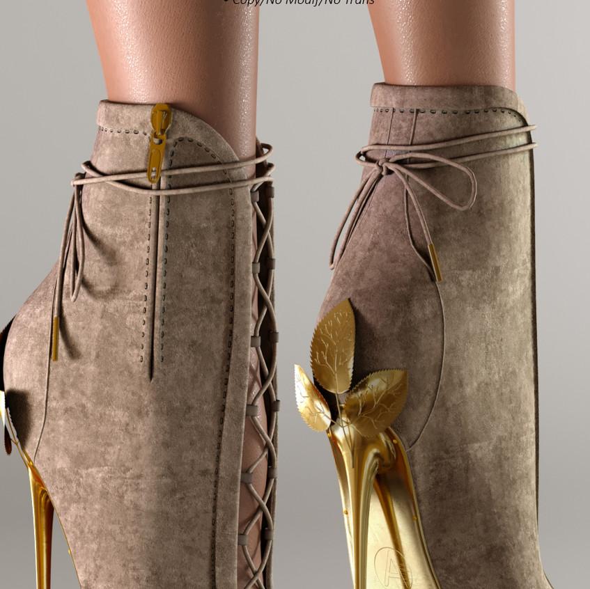 AZOURY - Ahira High Heel Shoe [Cream]