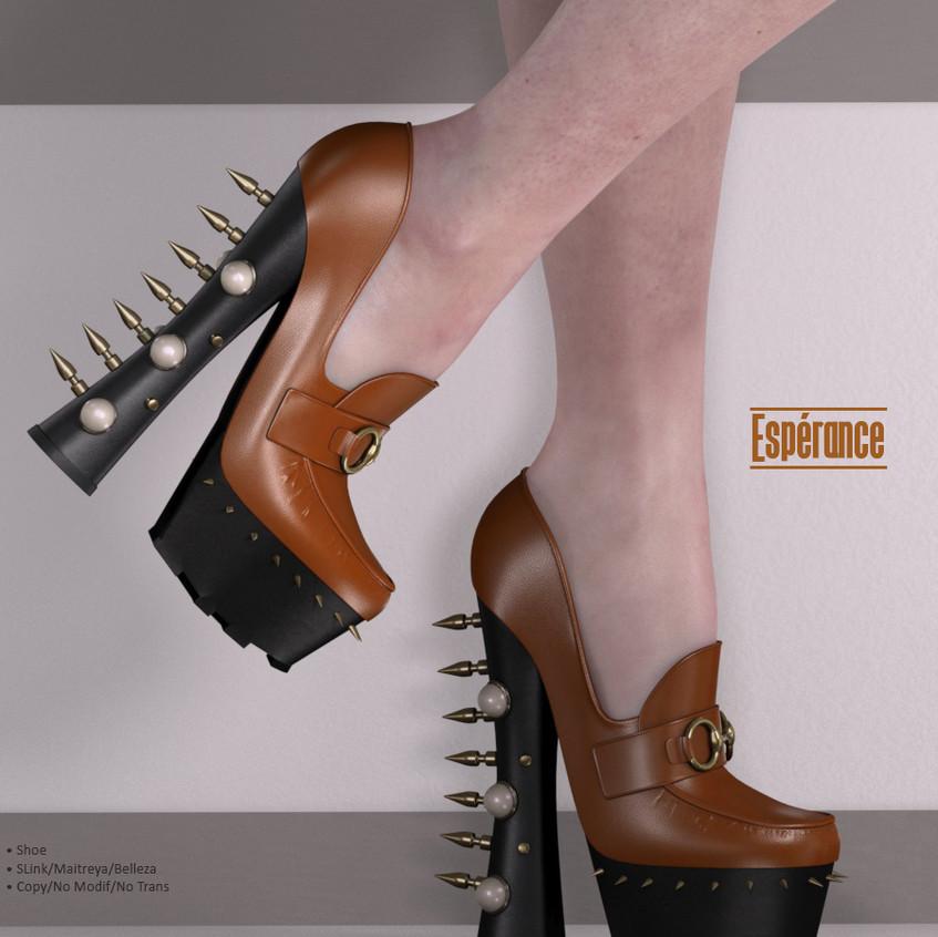 AZOURY - Esperance Shoe {Caramel}