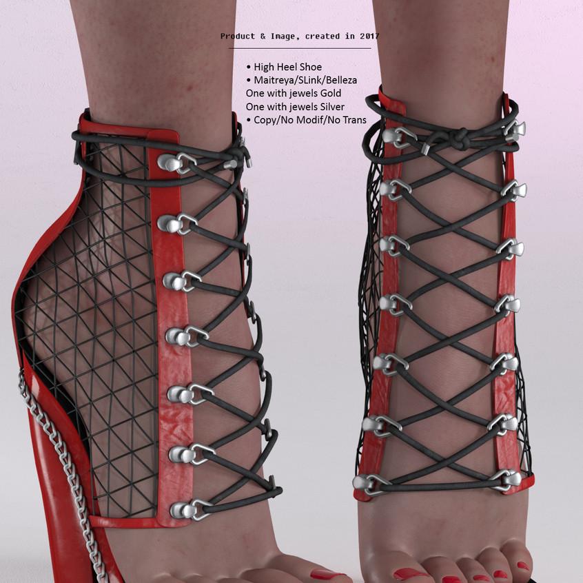 AZOURY - Tsaphkiel High Heel Shoe [Red]