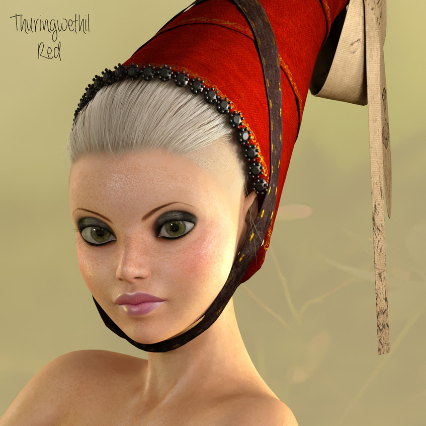 AZOURY - Thuringwethil Headwear [Red]