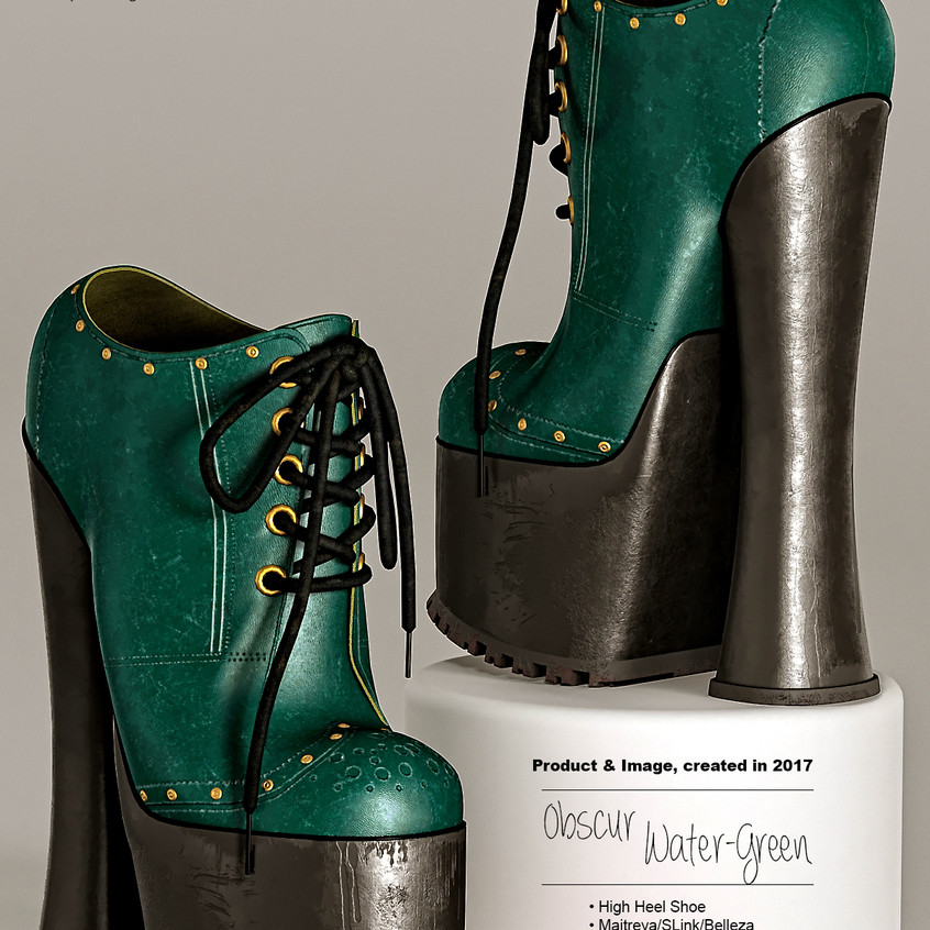 AZOURY - Obscur High Heel Shoe [Water-Green]