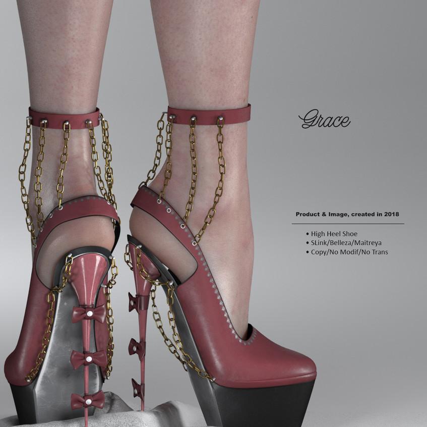 AZOURY - Grace High Heel Shoe {Rose}