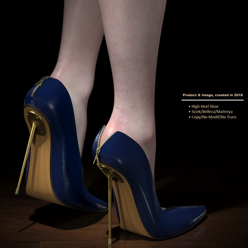 AZOURY - Kardia High Heel Shoe [Blue]