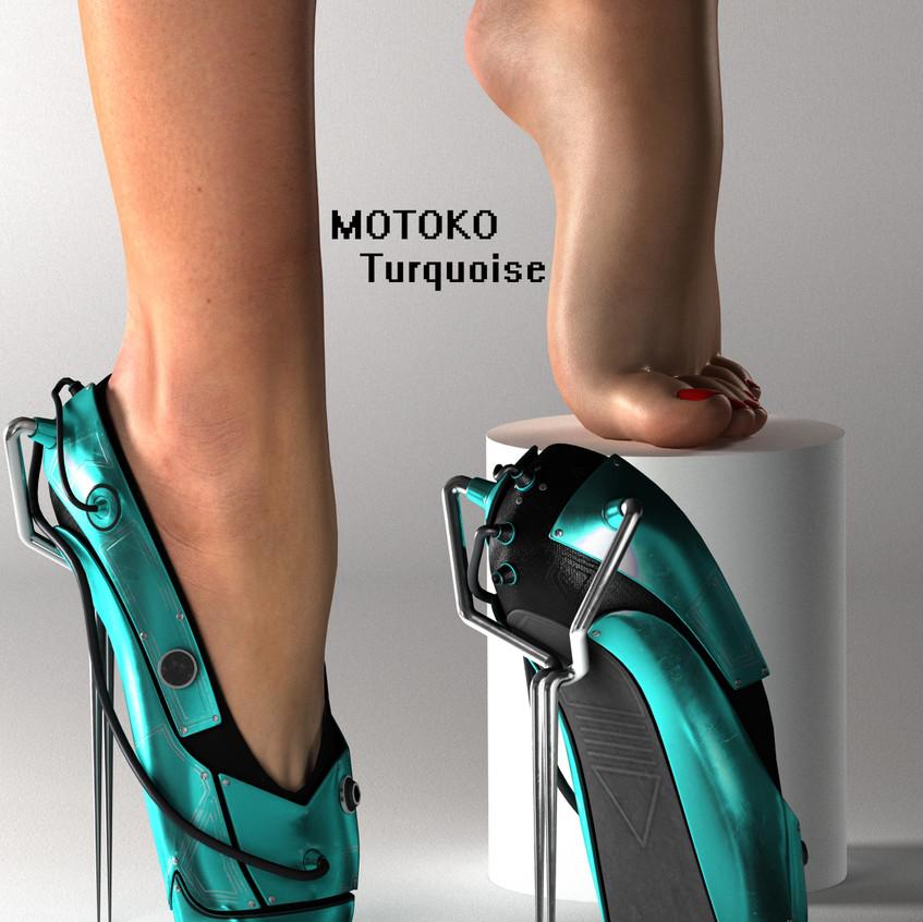 AZOURY - MOTOKO Ballet Shoes [Turquoise]