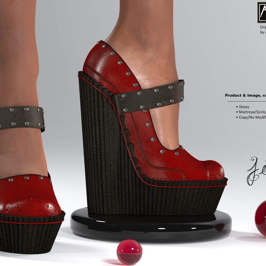 AZOURY - Jim Shoes [Red]