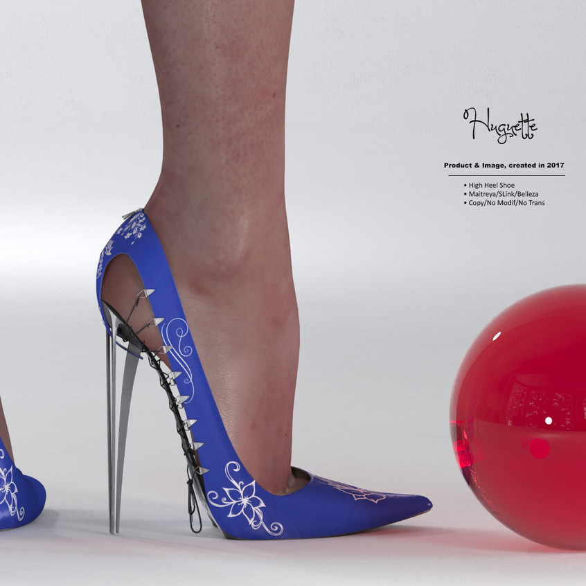 AZOURY - Huguette High Heel Shoe [Blue]