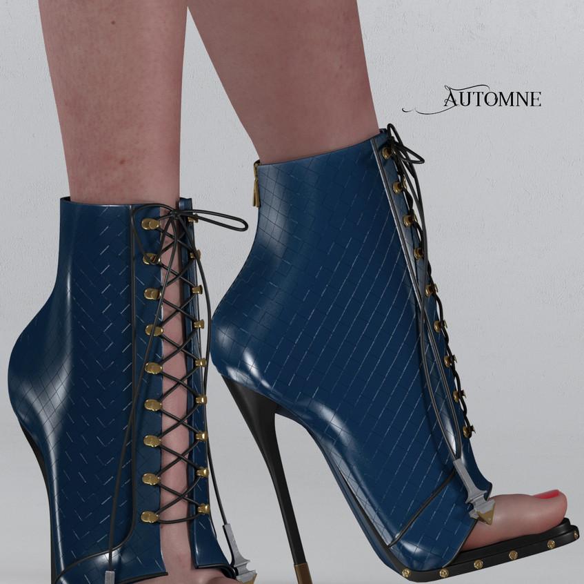 AZOURY - Automne Boot [Blue]