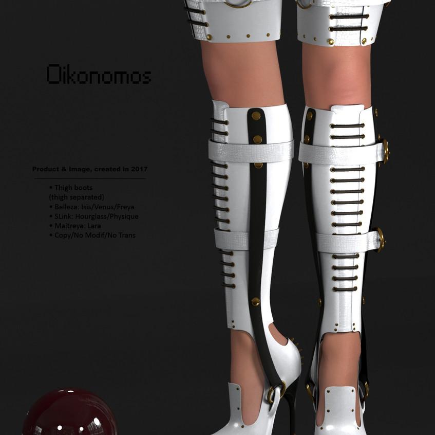AZOURY - Oikonomos Thigh Boots [White]