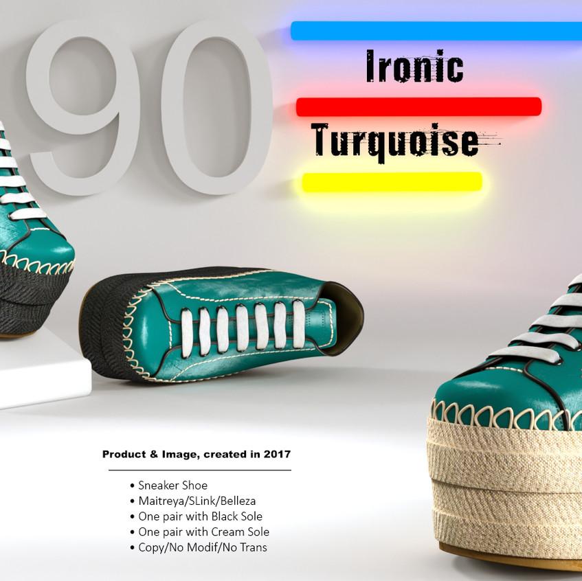 AZOURY - Ironic Sneaker Shoe [Turquoise]