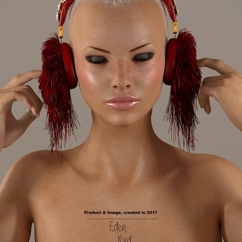 AZOURY - Eden Headphone [Red]
