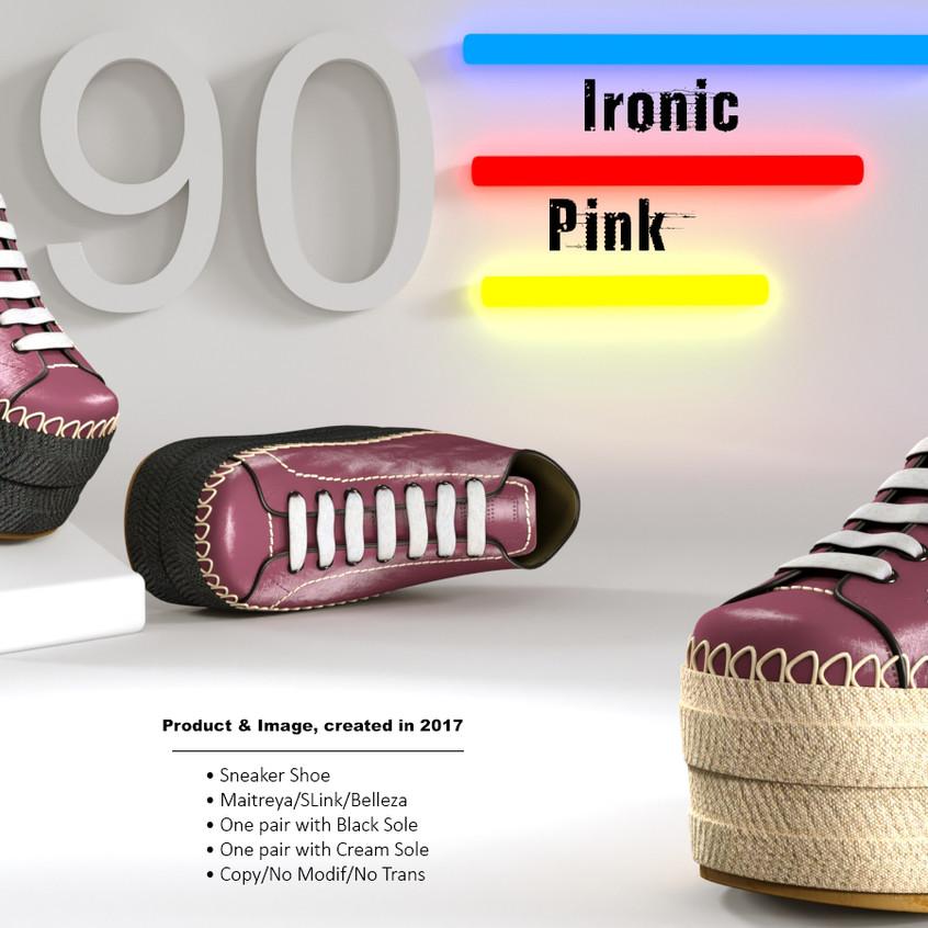 AZOURY - Ironic Sneaker Shoe [Pink]