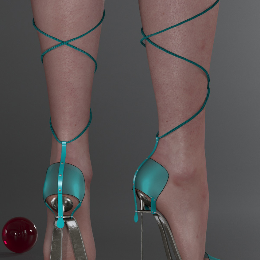 AZOURY - Obsession High Heel Shoe [Turquoise]