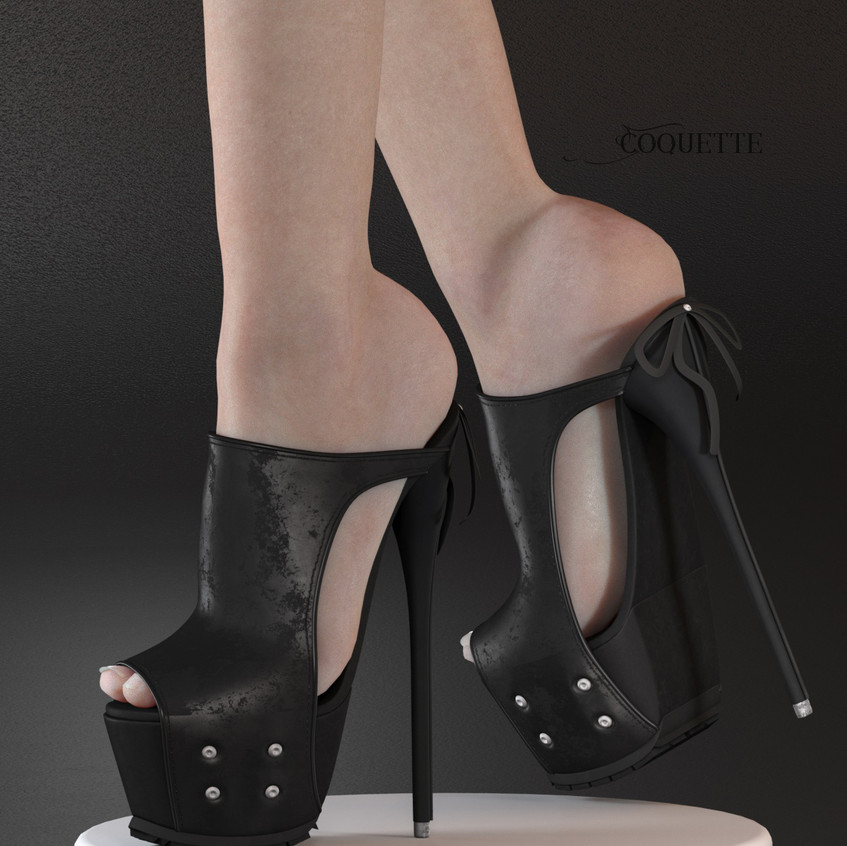 AZOURY - Coquette High Heel Shoe [Black]