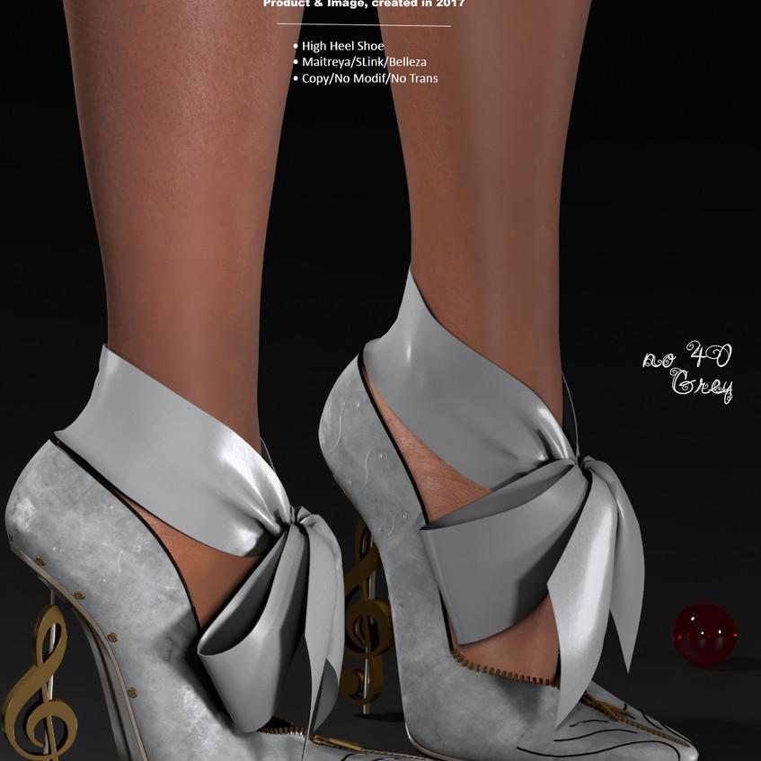 AZOURY - no 40 High Heel Shoe [Grey]