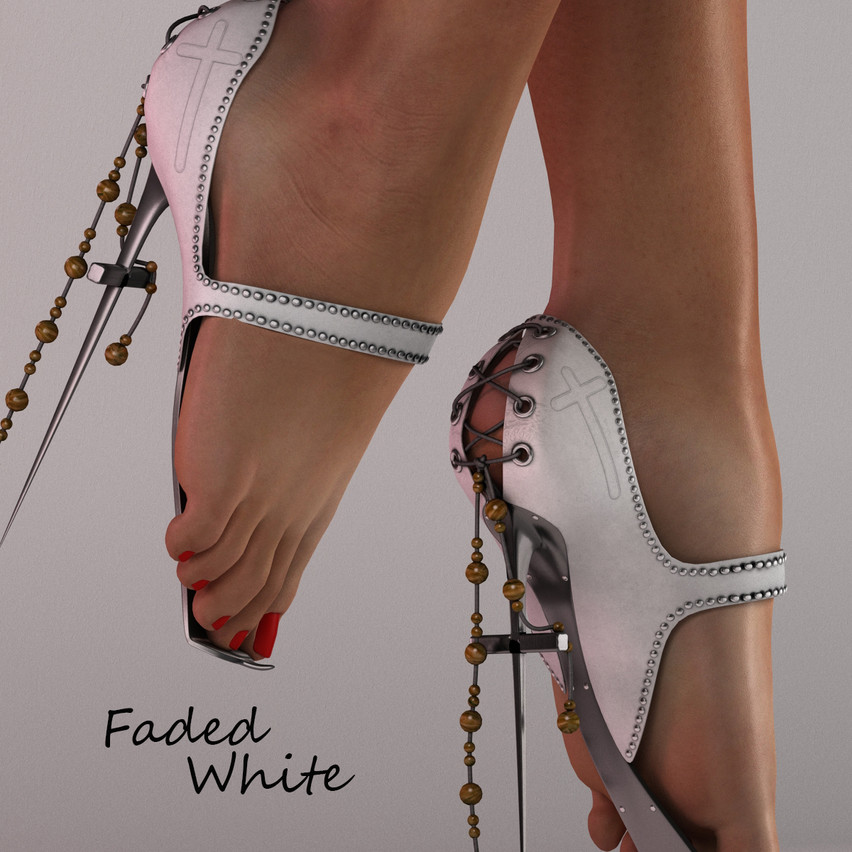 AZOURY - Faded Ballet Shoes [White]