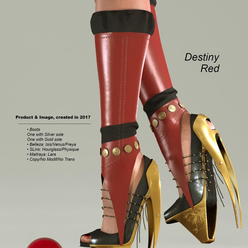 AZOURY - Destiny Boots [Red]