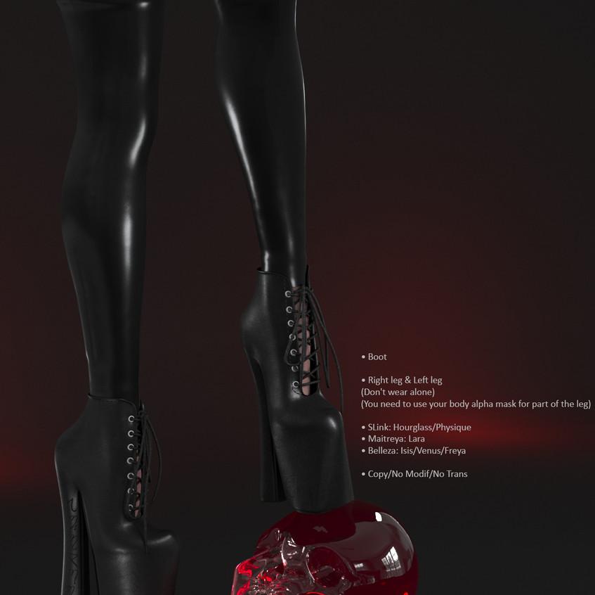 AZOURY - Salem Boot [Onyx]