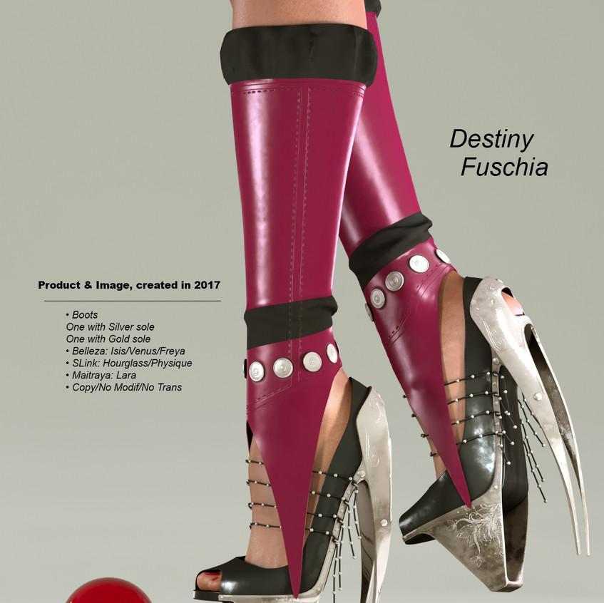 AZOURY - Destiny Boots [Fuschia]