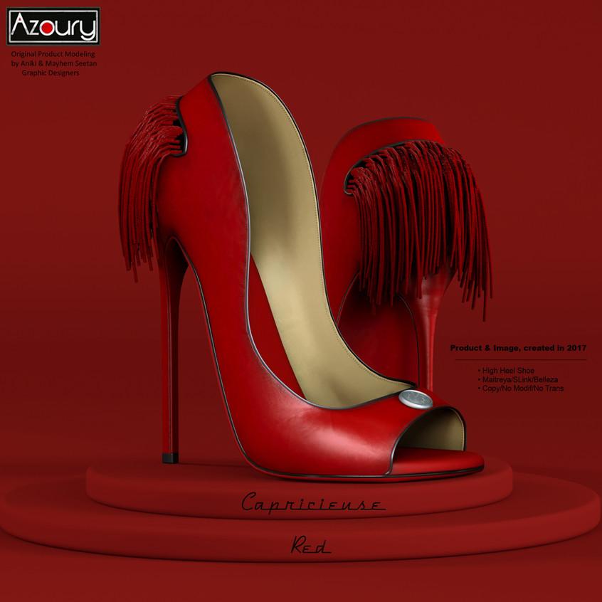 AZOURY - Capricieuse High Heel Shoe [Red]