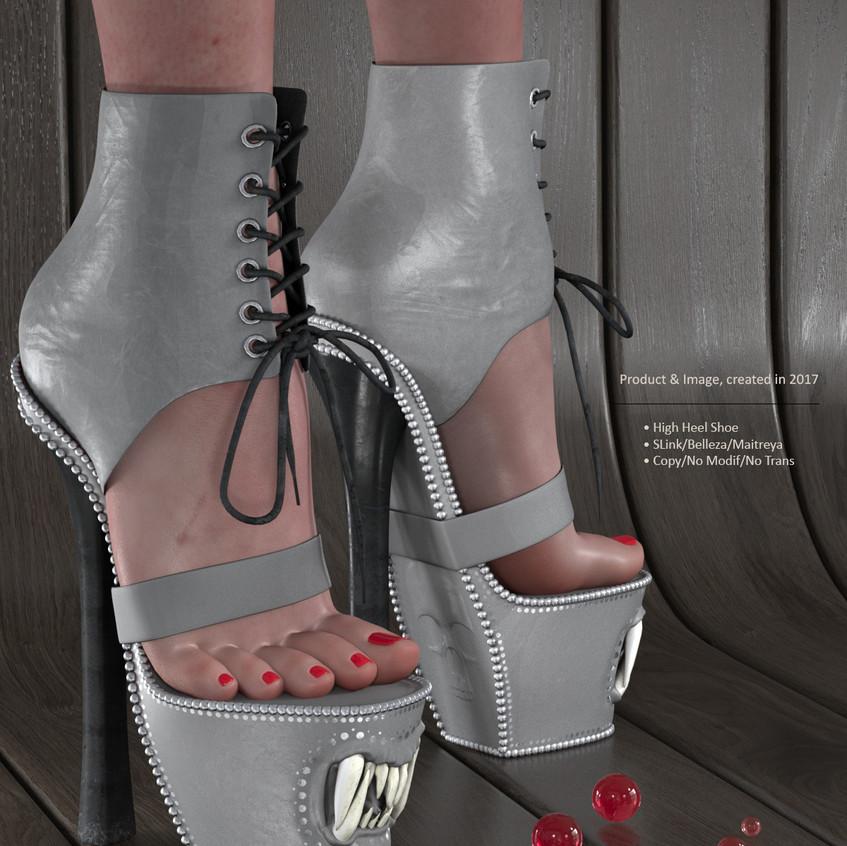 AZOURY - Baba Yaga Shoe [Grey]