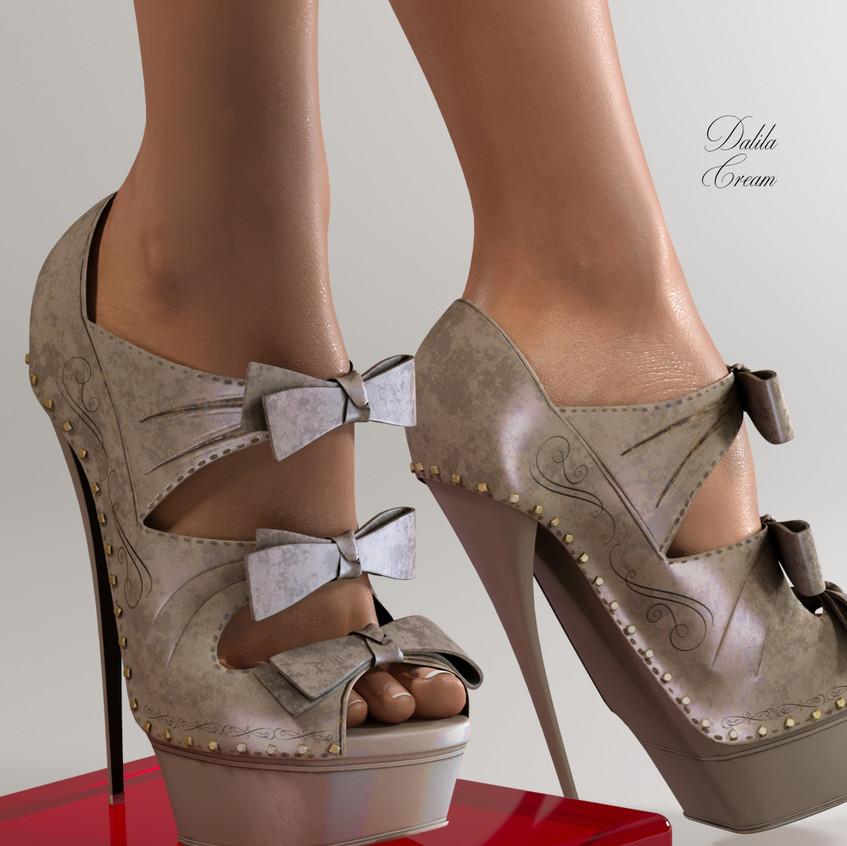 AZOURY - Dalila High Heel Shoe [Cream]