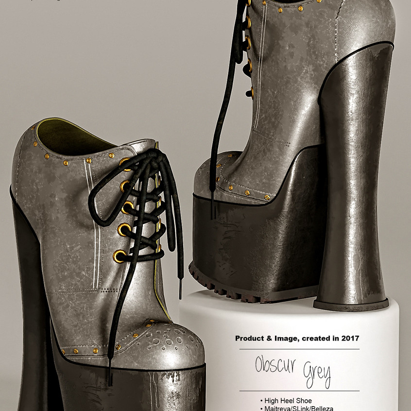 AZOURY - Obscur High Heel Shoe [Grey]