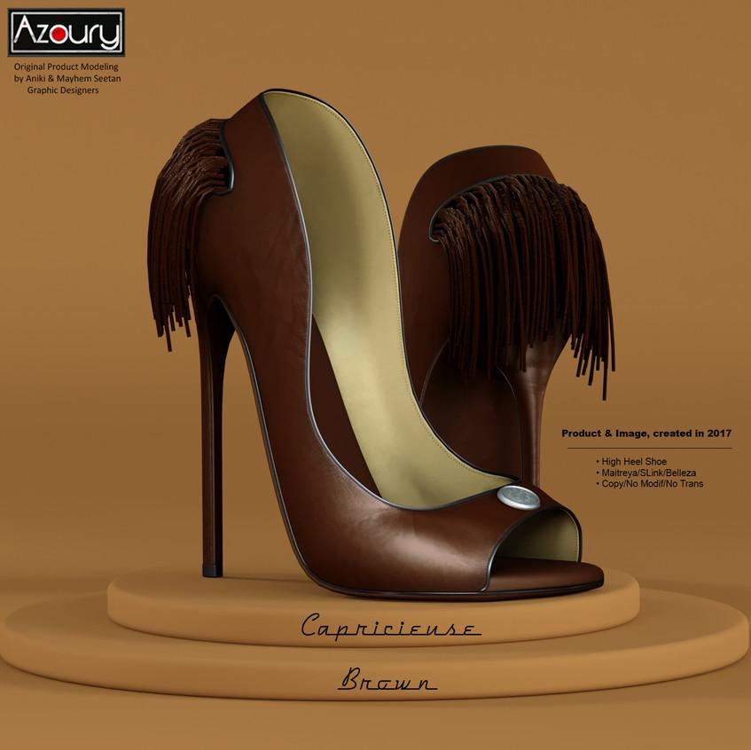 AZOURY - Capricieuse High Heel Shoe [Brown]