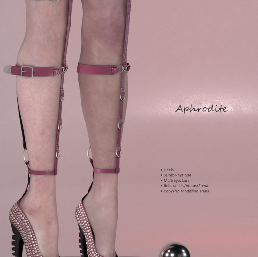 AZOURY - Aphrodite Heels {Rose}