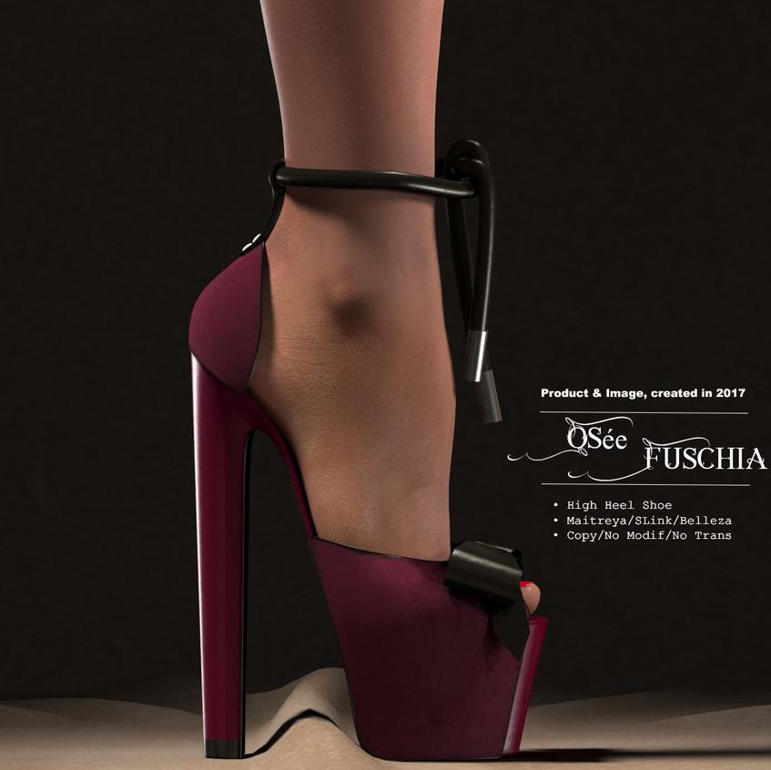 AZOURY_-_Osée_High_Heel_Shoe_[Fuschia]