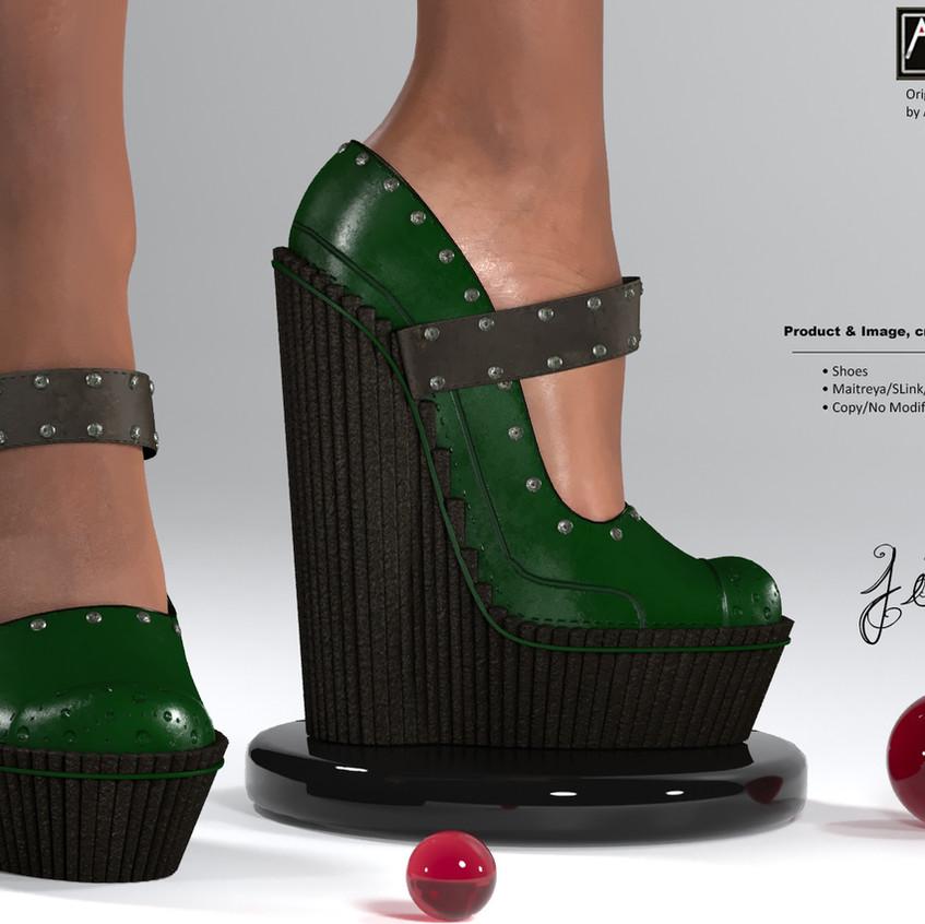 AZOURY - Jim Shoes [Green]
