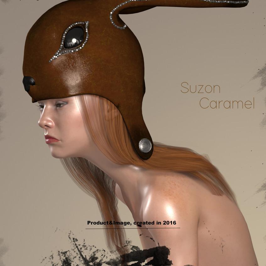 AZOURY - Suzon Leather Headwear [Caramel]