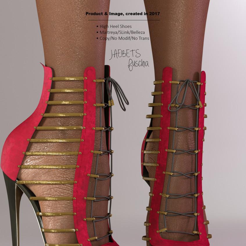 AZOURY - Jaebets high heel shoe [Fuschia]