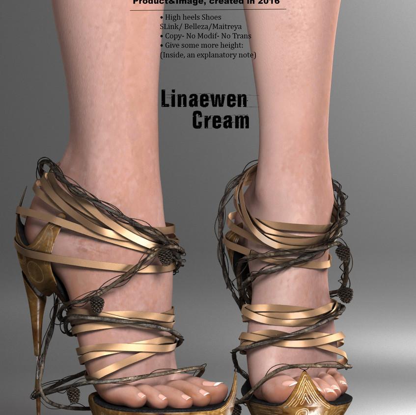AZOURY - Linaewen High Heels Shoes [Cream]