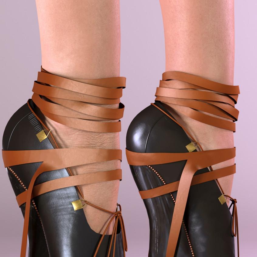 AZOURY - Josette Ballet Shoes SLink Pointe [Caramel]