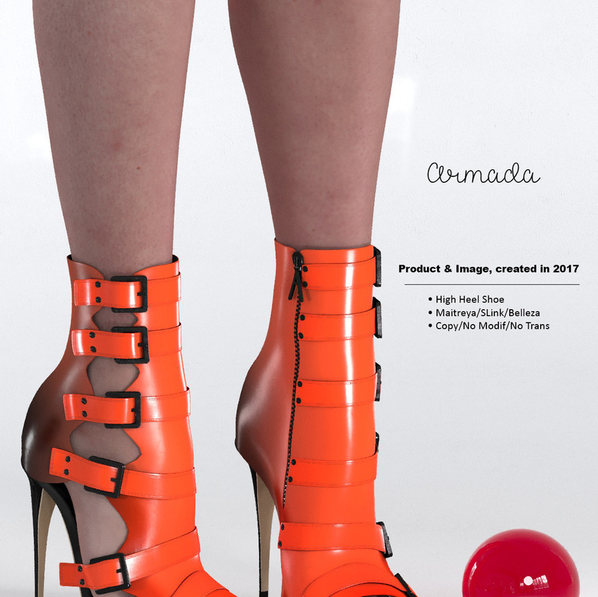 AZOURY - Armada High Heel Shoe [Orange]