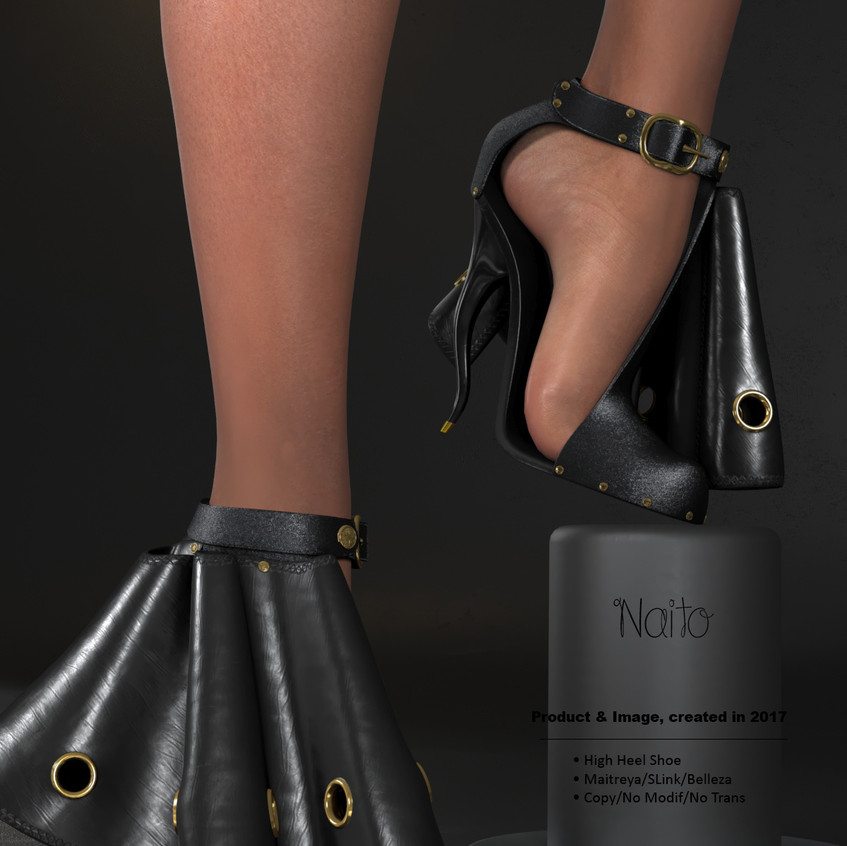 AZOURY - Naito High Heel Shoe [Black]