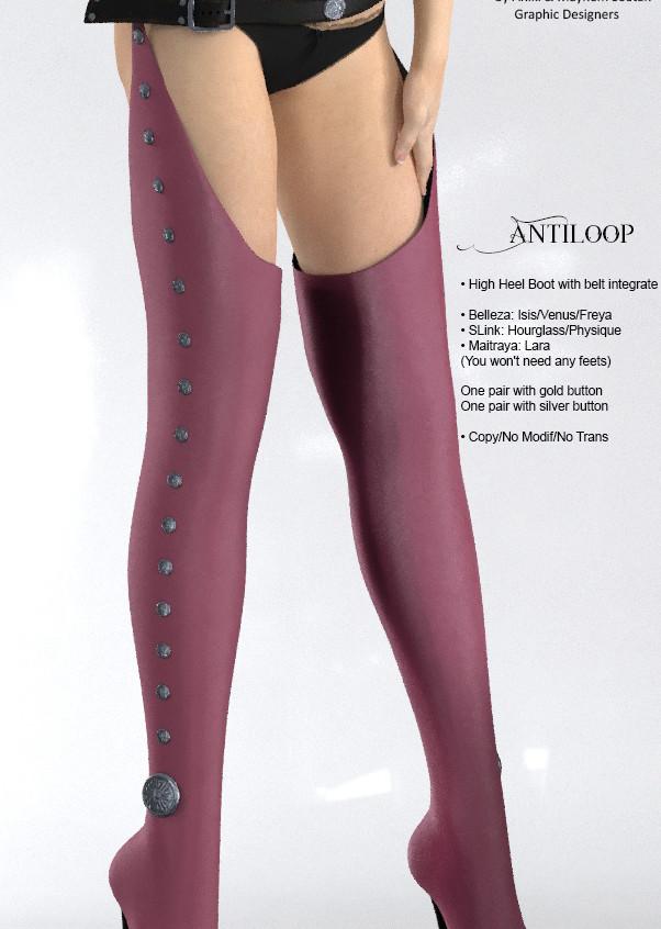 AZOURY - Antiloop leather [Pink]