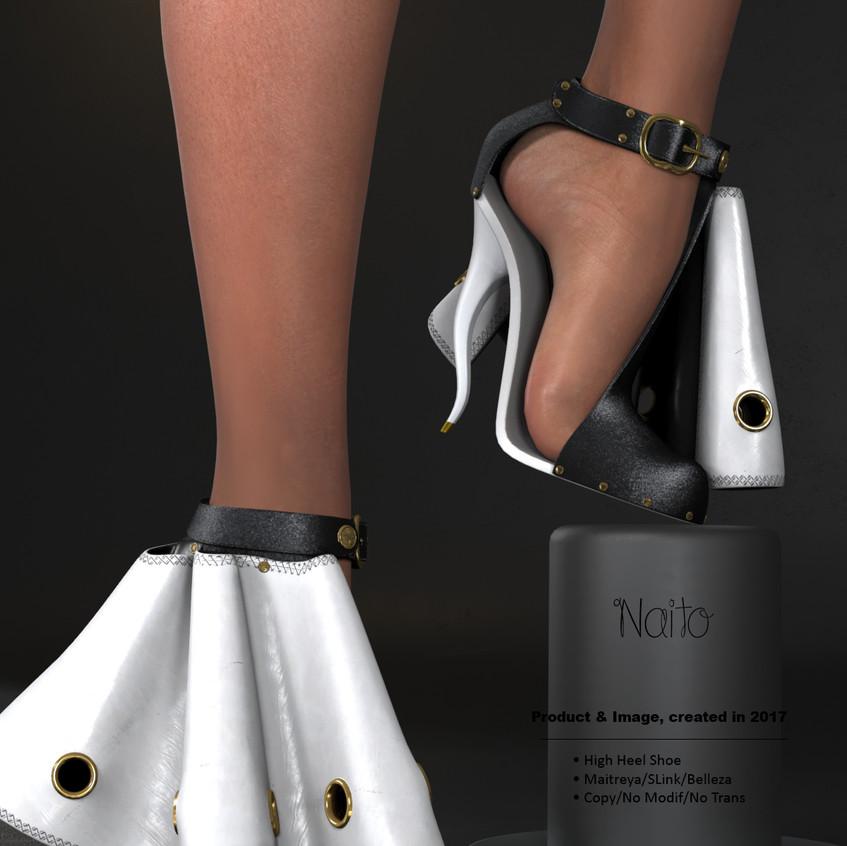 AZOURY - Naito High Heel Shoe [White]