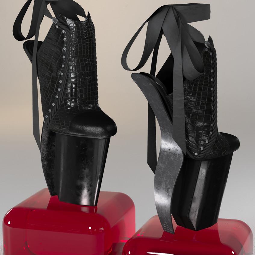 AZOURY - Keziah High Heel Shoe [Onyx]