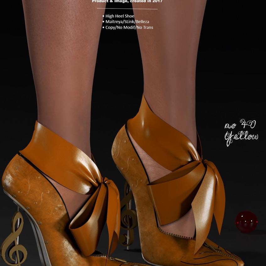 AZOURY - no 40 High Heel Shoe [Yellow]